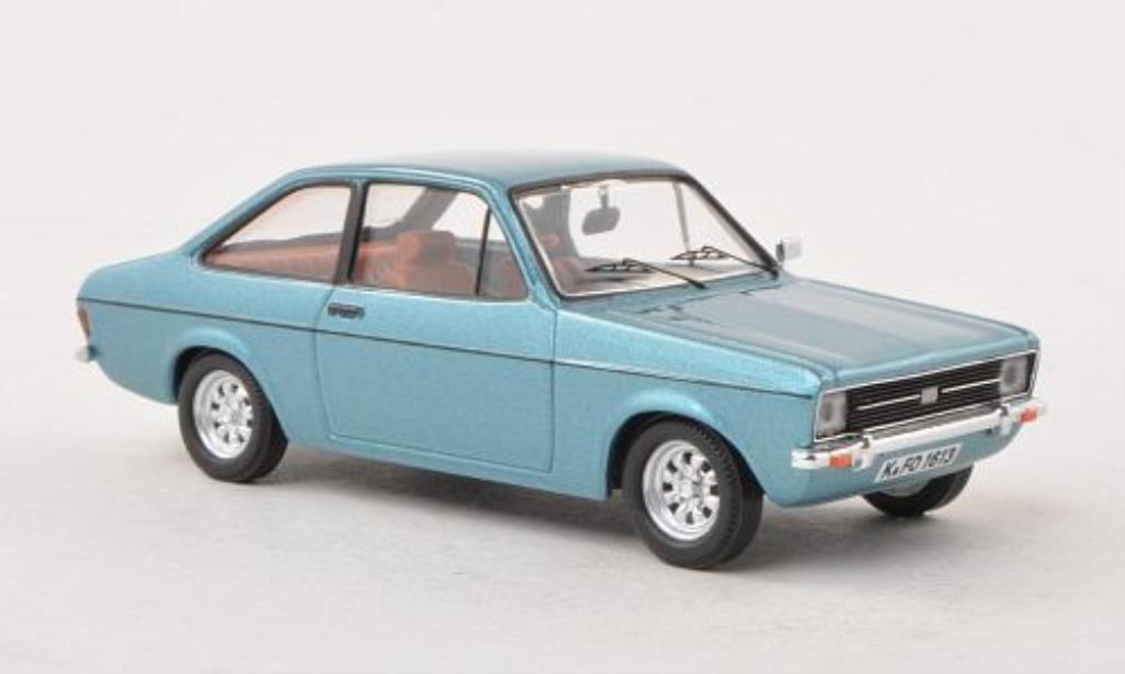 Ford Escort 1/43 WhiteBox MkII bleu LHD 1975 modellautos