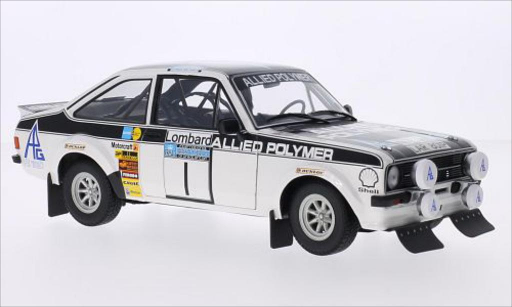 Ford Escort 1/18 Minichamps MKII  1800 No.1 Allied Polymer Rallye WM RAC Rallye 1975 /H.Liddon miniature