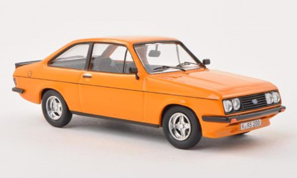 Ford Escort 1/43 WhiteBox MKII 2000 orange 1978 miniature