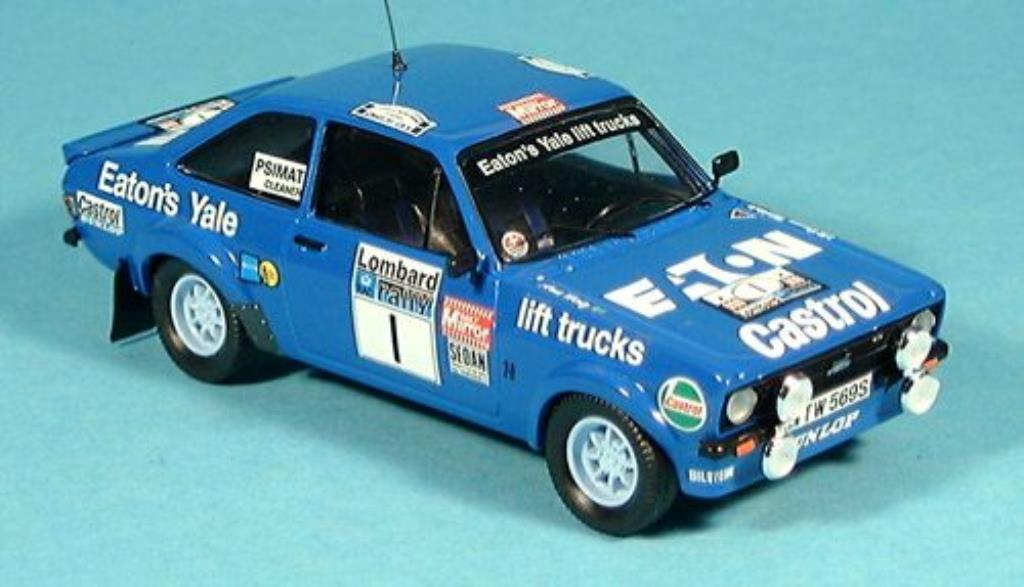 Ford Escort 1/43 Trofeu MKII  No.1 Eaton Yale RAC Rallye 1979 /Hertz miniature