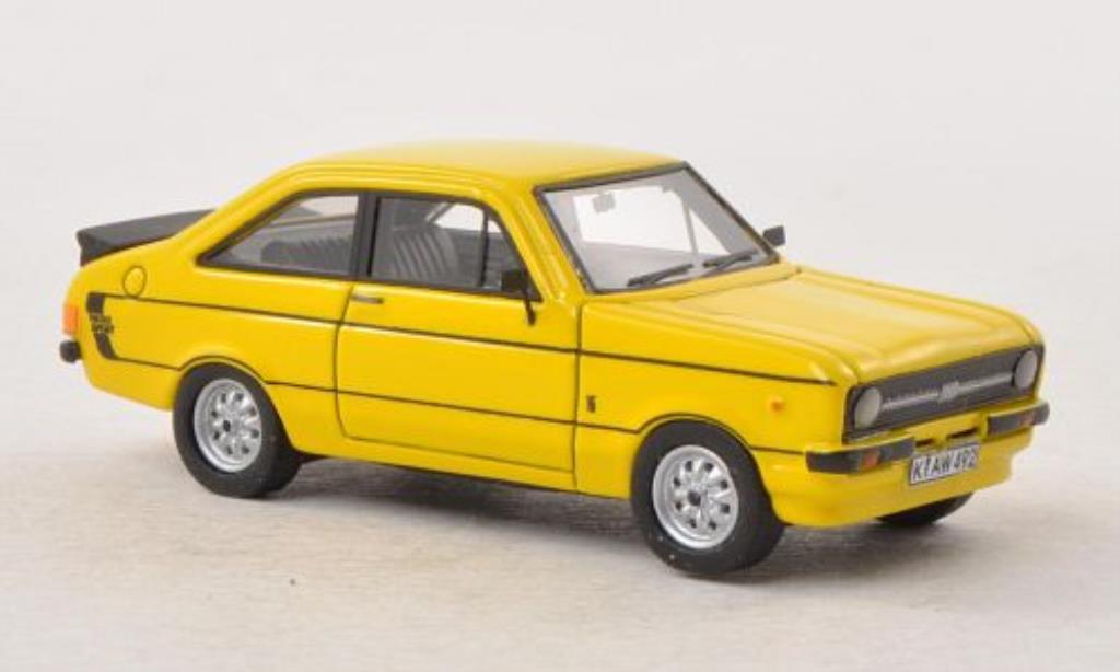 Ford Escort 1/87 Neo MKII 1600 Sport yellow RHD 1978 diecast model cars