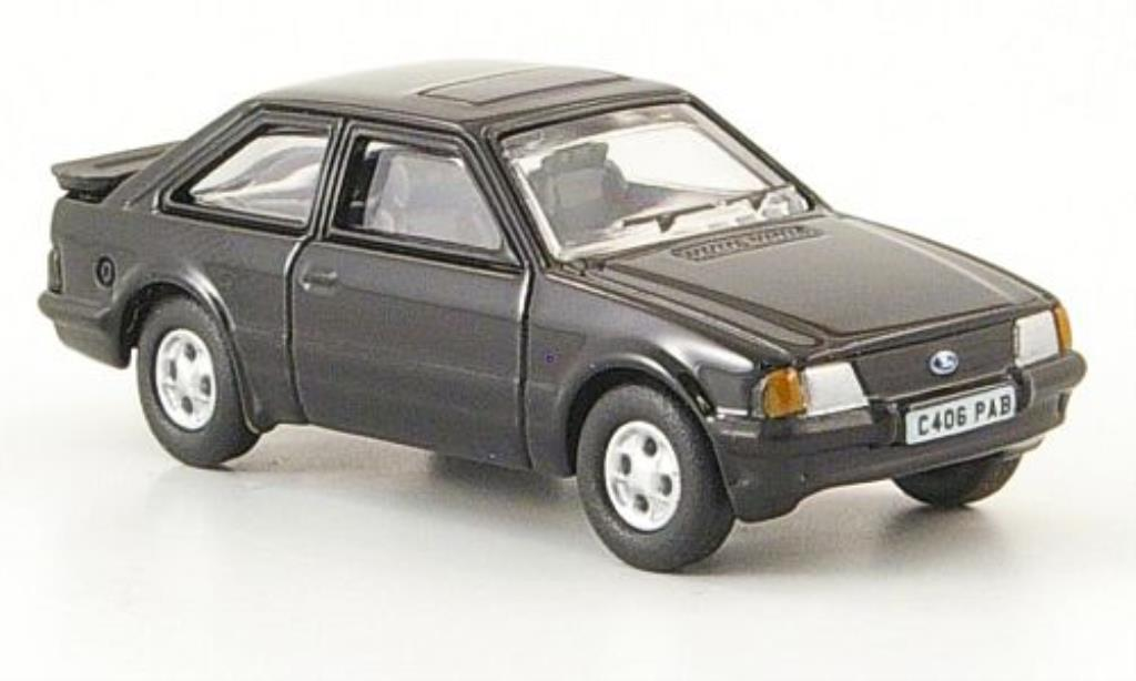 Ford Escort 1/76 Oxford MkIII XR3i noire 1982 miniature