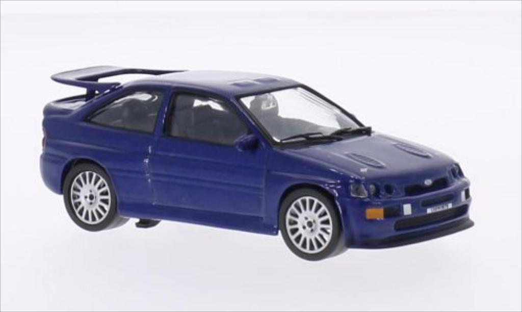 Ford Escort 1/43 WhiteBox  Cosworth metallic-bleu 1992 miniature
