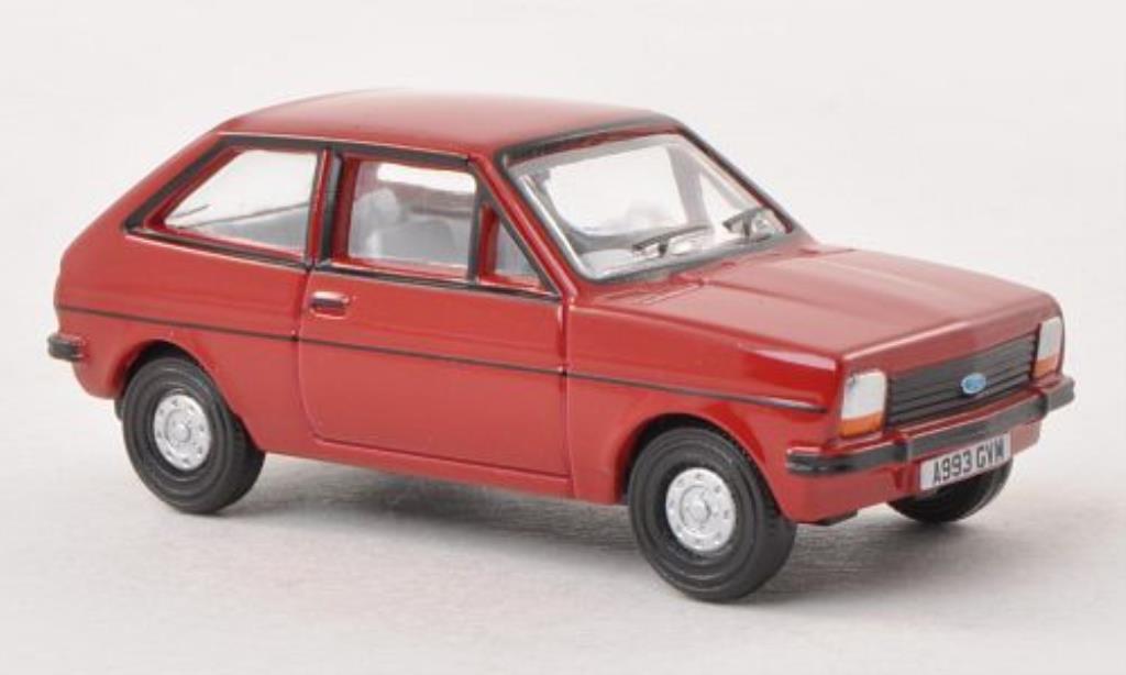 Ford Fiesta 1/76 Oxford MkI rouge miniature
