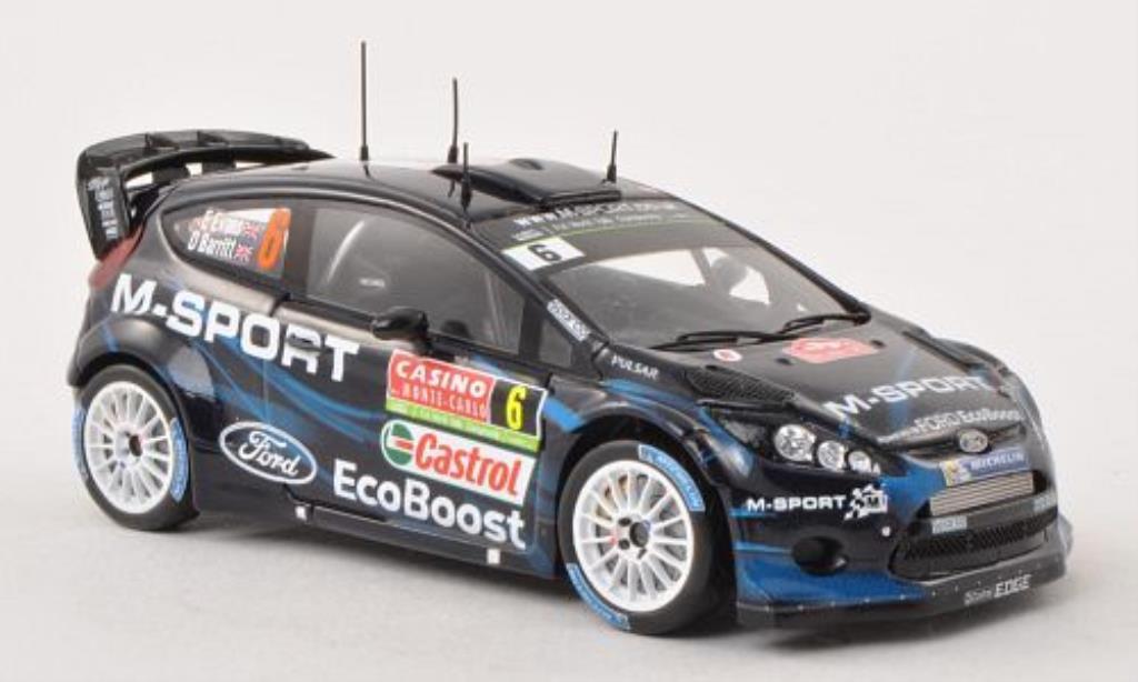 Ford Fiesta 1/43 Spark  No.6 M-Sport LTD Rally Monte Carlo 2014 /D.Barritt miniature