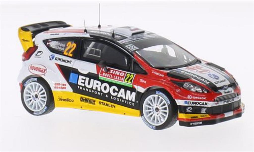 Ford Fiesta 1/43 IXO WRC No.22 Eurocam WRC Rallye Monte-Carlo 2014 /E.Melicharek miniature