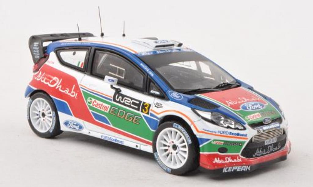 Ford Fiesta WRC 1/43 IXO No.3 UK Test Kirkbride Airfield 2011 modellautos