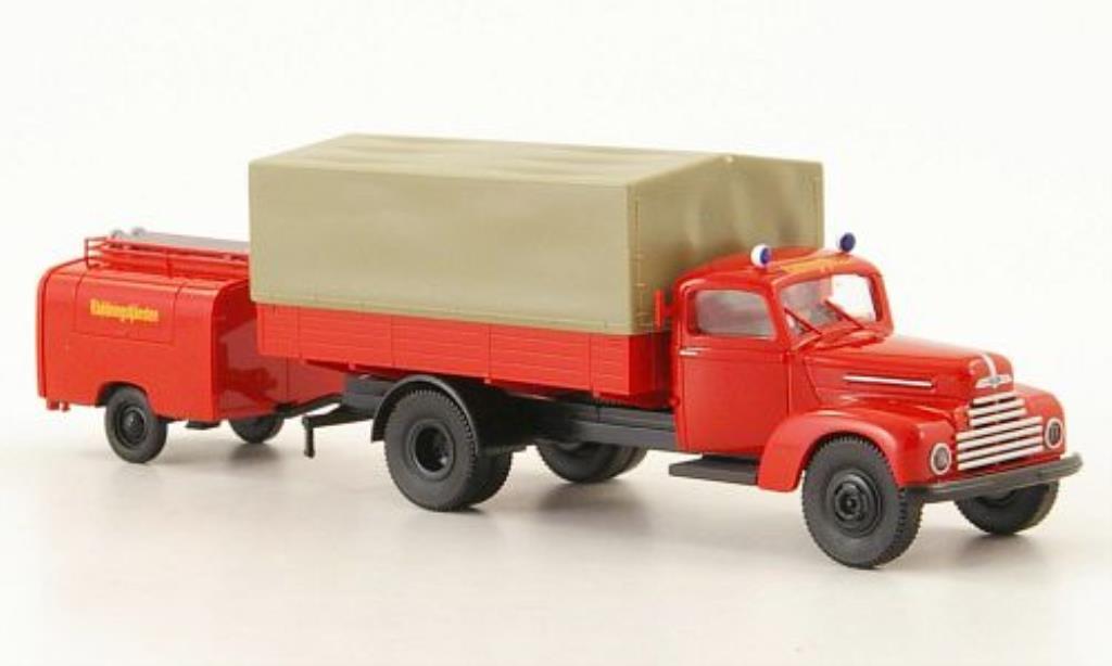 Ford FK 3500 1/87 Brekina 3500 Feuerwehr Raddningstjansten miniature