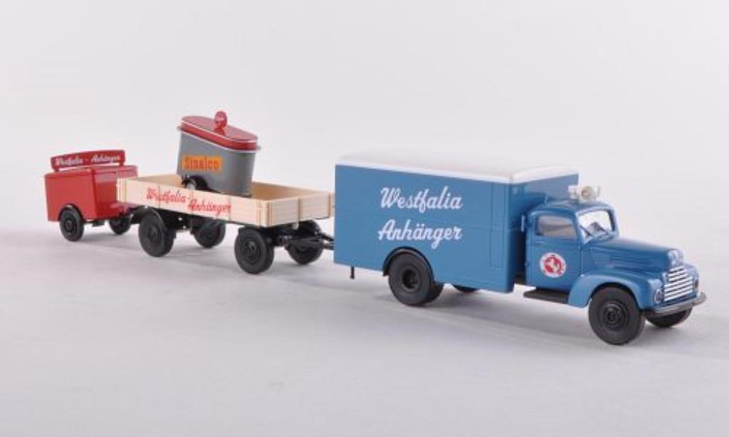 Ford FK 3500 1/87 Brekina 3500 Werbezug mit zwei Anhanger Westfalia Anhanger miniature