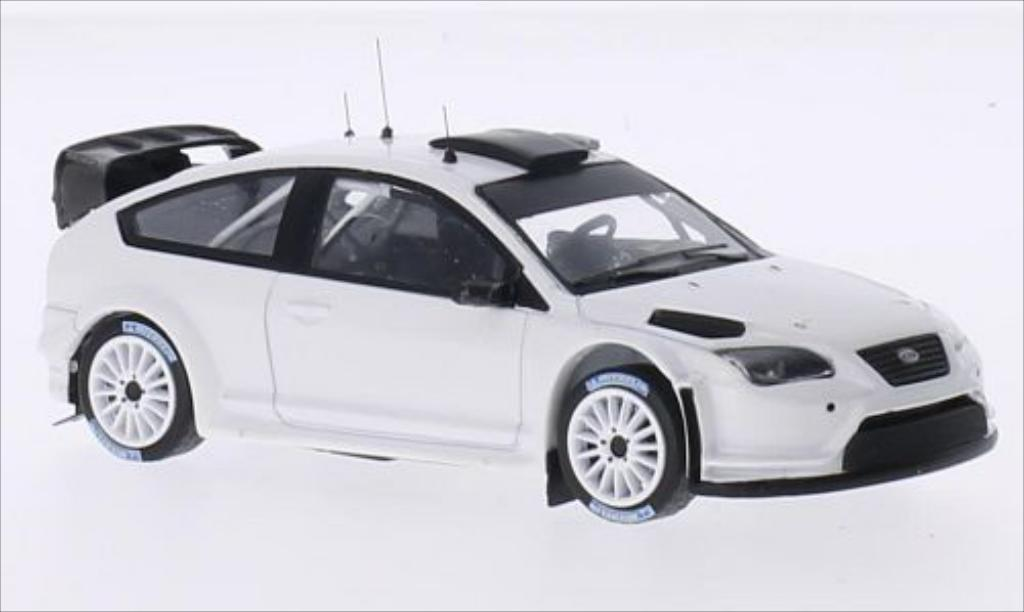 Ford Focus RS 1/43 IXO WRC08 Rally Specs matt-white 2009 diecast