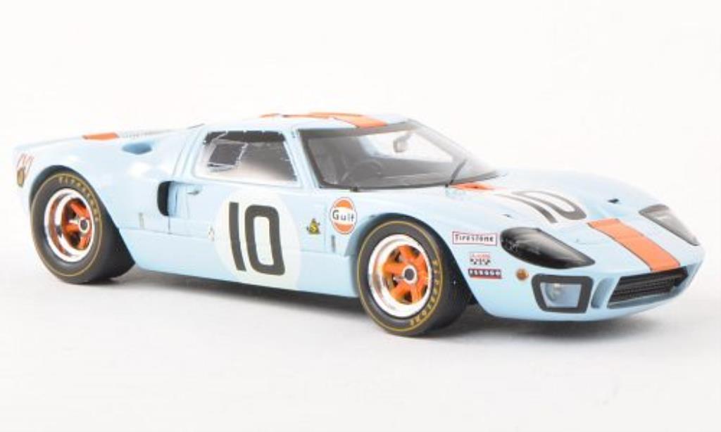 Ford GT 40 1/43 Spark No.10 Gulf 24h Le Mans 1968 /D.Hopps miniature