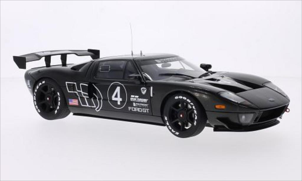 Ford GT 1/18 Autoart LM Spec II carbon No.4 2005 miniature