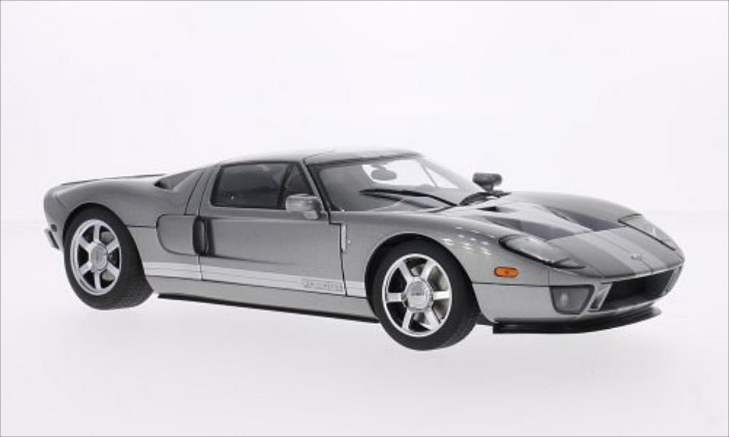 Ford GT 1/18 Autoart metallise grise/grise 2004 miniature