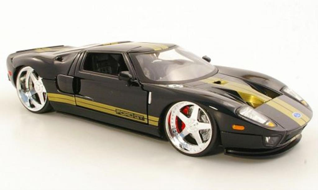 Ford GT 1/24 Jada Toys Toys noire/gold 2005 miniature
