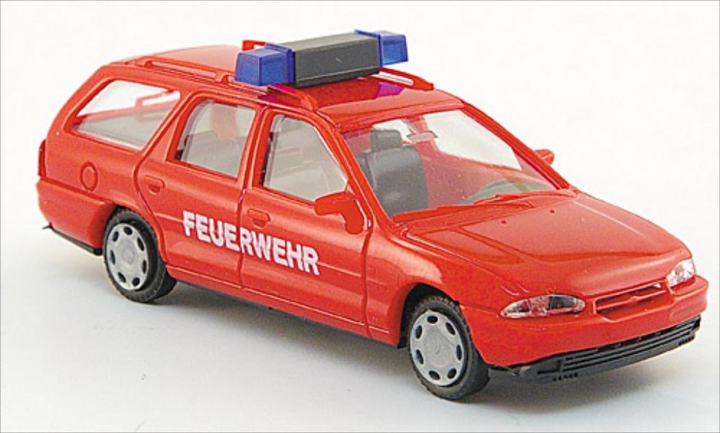 Ford Mondeo 1/87 AWM MK I Turnier rouge miniature