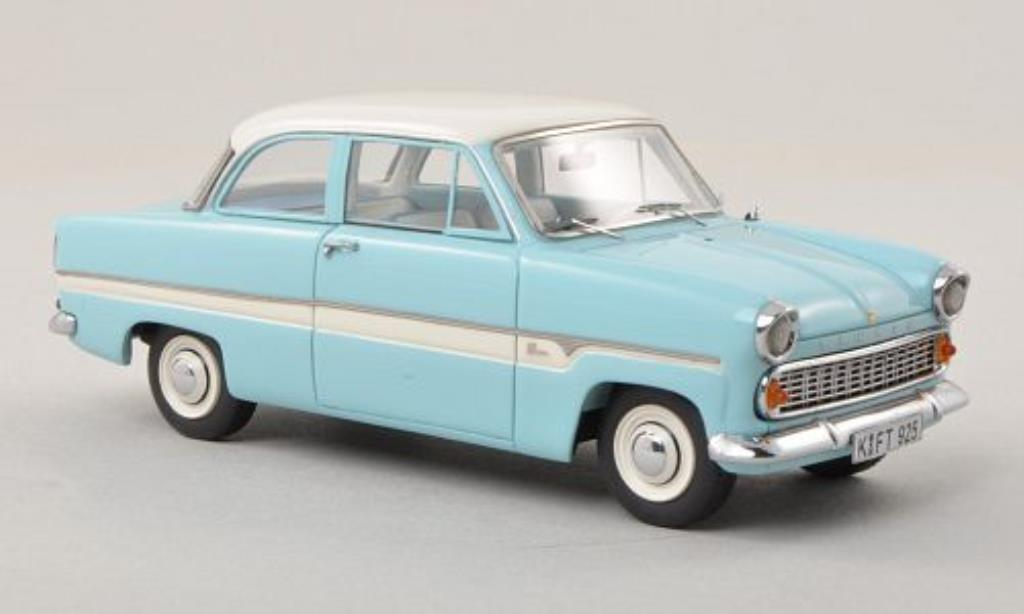 Ford Taunus 1/43 Neo 12M Limousine bleu/blanche 1959 miniature