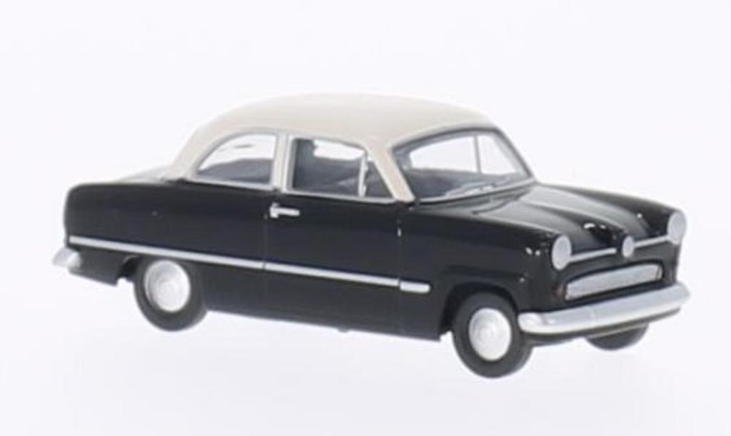 Ford Taunus 1/87 Herpa 12M noire/blanche miniature