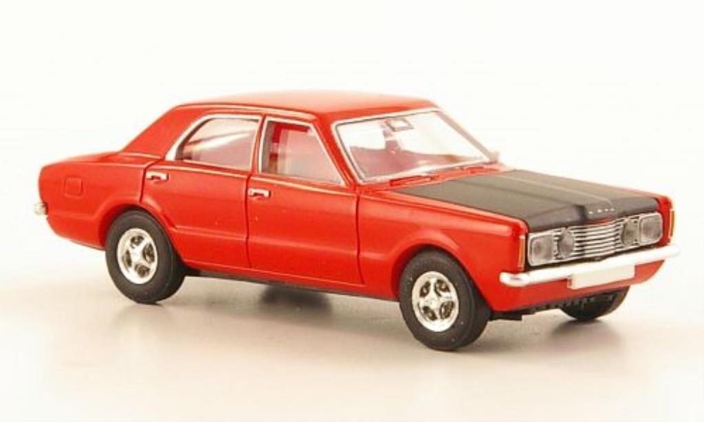 Ford Taunus 1/87 Brekina GT Sport rouge/noire miniature