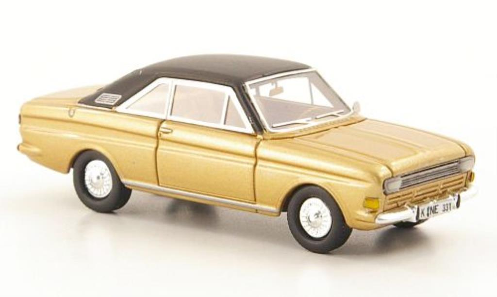 Ford Taunus 1/87 Neo P6 15M Coupe gold/black 1968 diecast model cars
