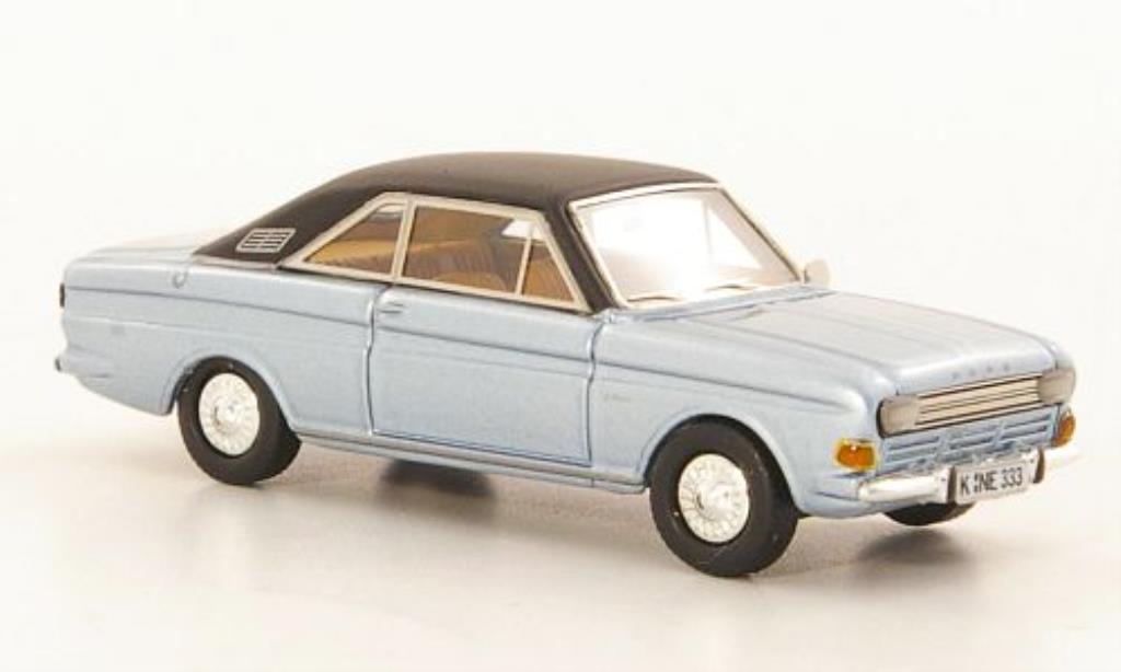 Ford Taunus 1/87 Neo P6 15M Coupe grisebleu/noire 1968 miniature