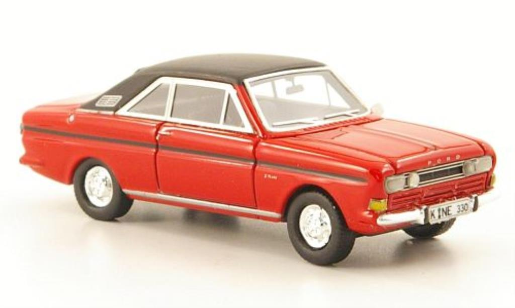 Ford Taunus 1/87 Neo P6 15M Coupe rouge/noire 1968 miniature