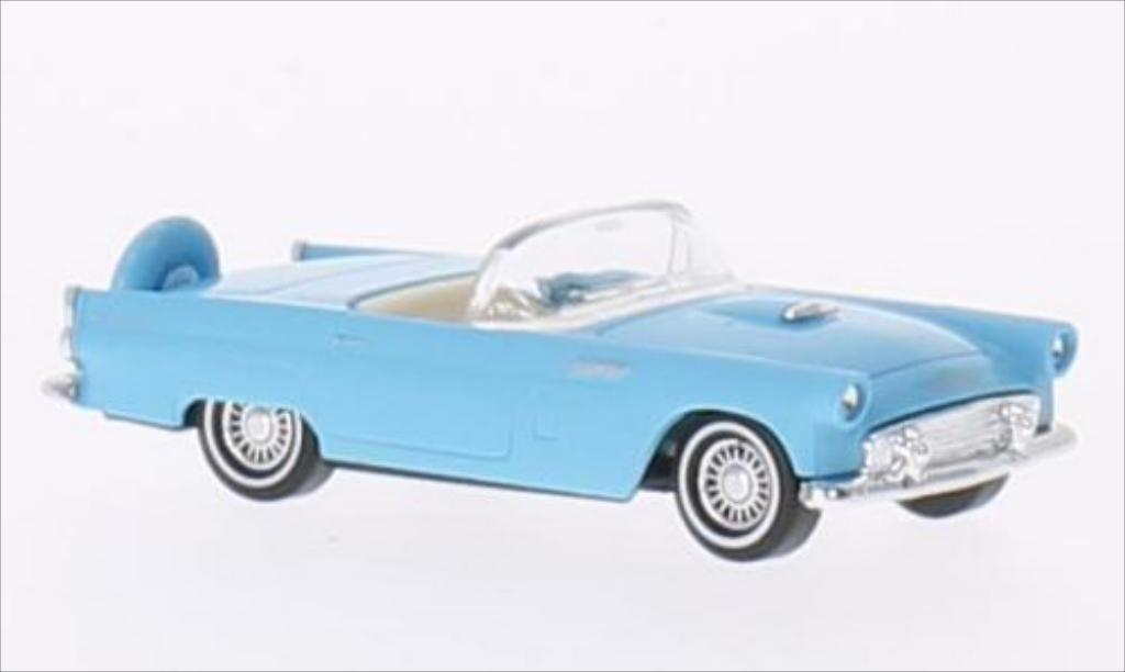 Ford Thunderbird 1/87 Busch Convertible bleu 1956 diecast model cars