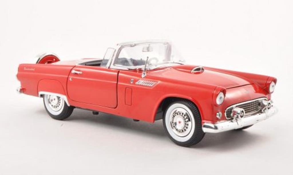 Ford Thunderbird 1/18 Motormax Convertible red 1956 diecast model cars