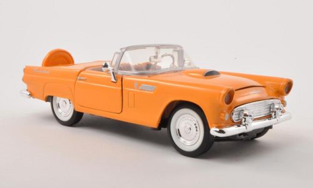 Ford Thunderbird 1/24 Motormax jaune 1956 miniature