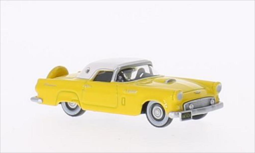 Ford Thunderbird 1/87 Oxford jaune/blanche 1956 miniature