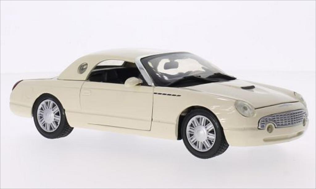 Ford Thunderbird 1/24 Motormax Hardtop beige 2002 modellino in miniatura