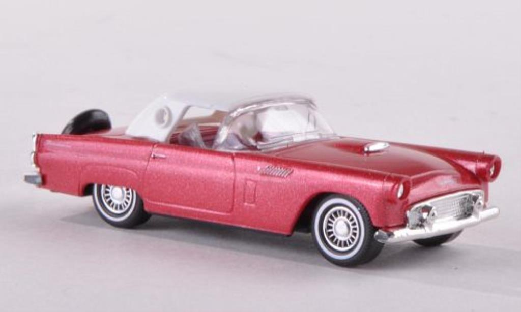 Ford Thunderbird 1/87 Busch Hardtop rosso 1956 modellino in miniatura