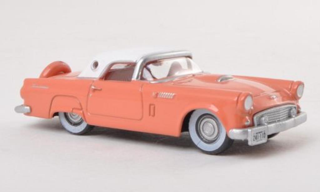 Ford Thunderbird 1/87 Oxford Hardtop rose/blanche 1956 miniature