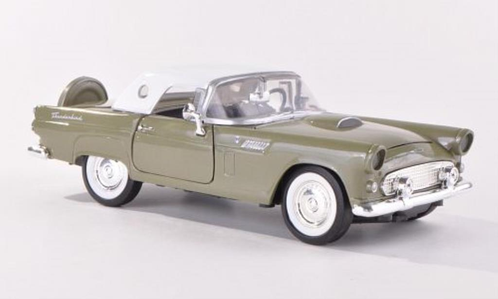 Ford Thunderbird 1/24 Motormax grise-grun 1956 miniature