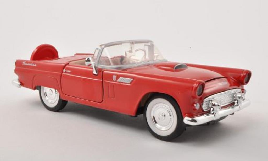 Ford Thunderbird 1/24 Motormax rouge 1956 miniature