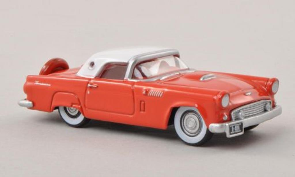 Ford Thunderbird 1/87 Oxford rouge/blanche 1956 miniature