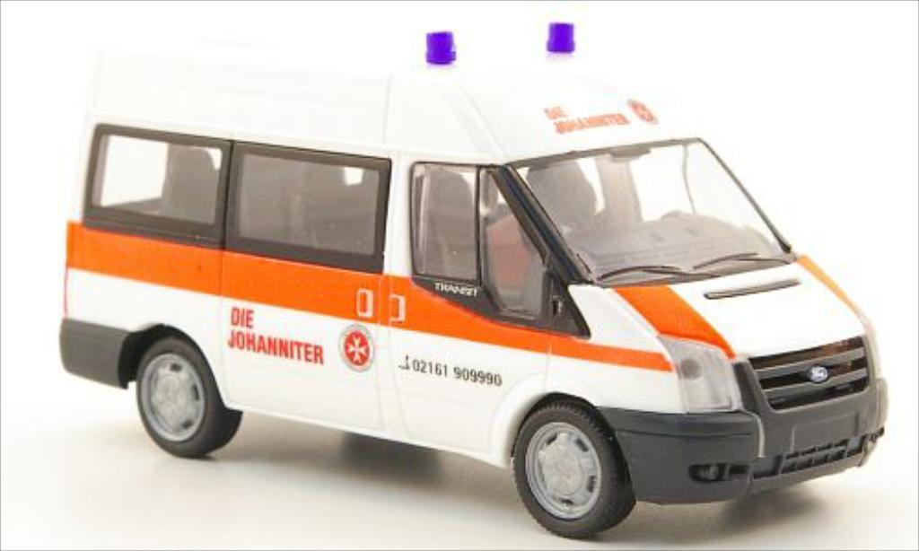 Ford Transit 1/87 Rietze 06 Bus Johanniter Monchengladbach miniature