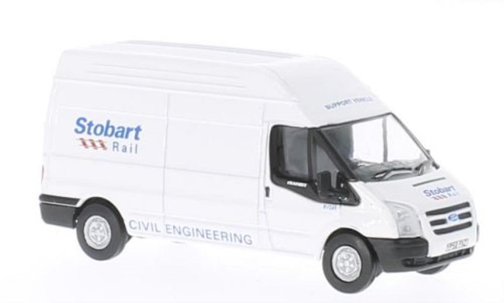 Ford Transit 1/76 Oxford LWB High Roof Stobart modellautos