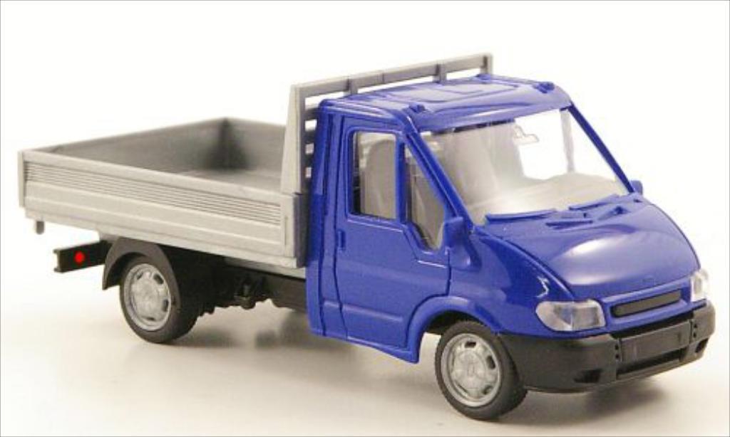 Ford Transit 1/87 Rietze Pritsche bleu/grise 2001 miniature