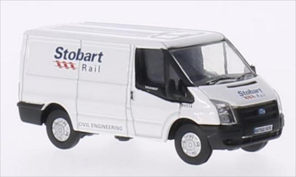 Ford Transit 1/76 Oxford RHD Stobart Rail miniature