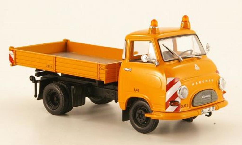 Hanomag Kurier 1/43 Minichamps Kipper orange Kommunalfahrzeug 1958 miniature