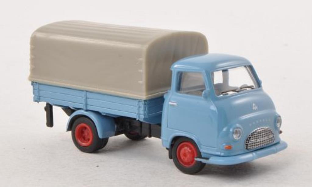 Hanomag Kurier 1/87 Schuco Pritsche grise-bleu PP-LKW miniature