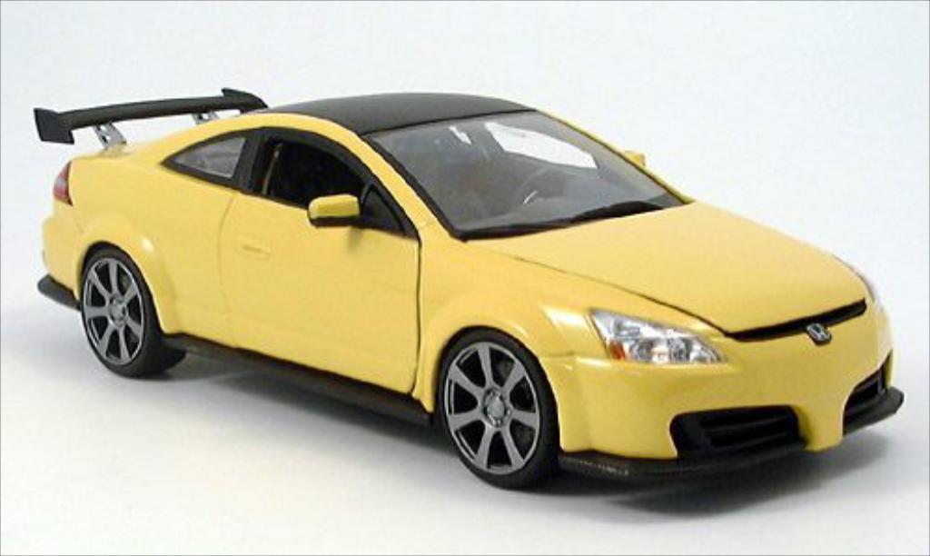Honda Accord 1/18 Motormax Tuning jaune/matt-noire miniature