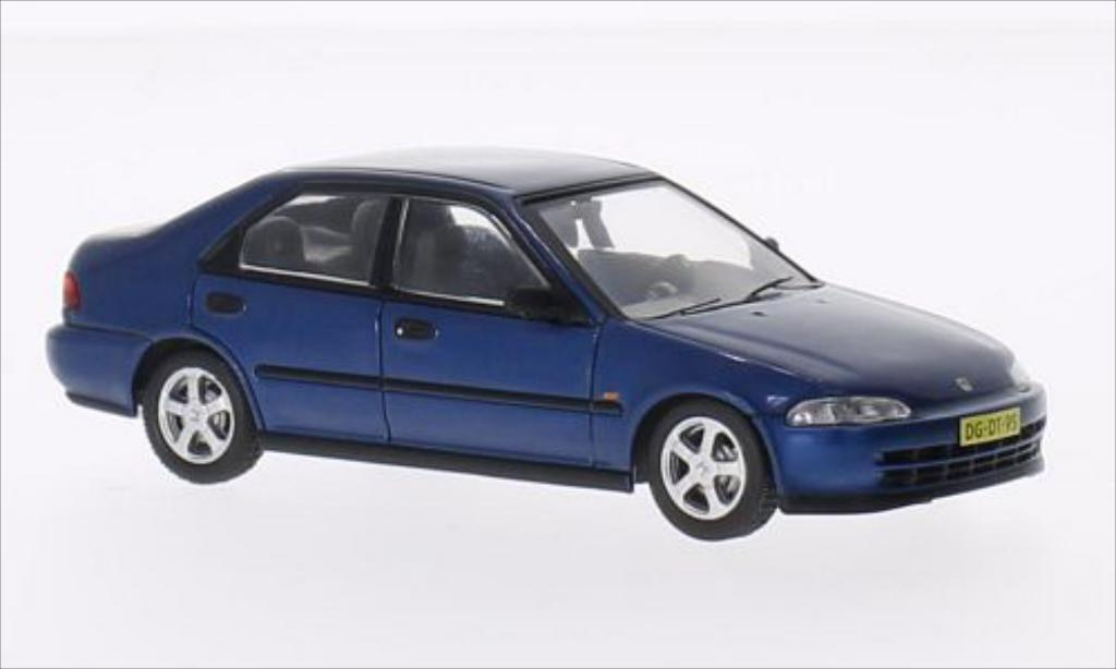 Honda Civic 1/43 IXO LSi (EG9) metallise bleu 1992 diecast model cars