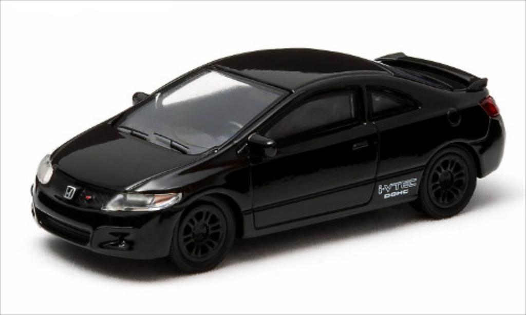 Honda Civic 1/64 Greenlight Si noire 2011 miniature