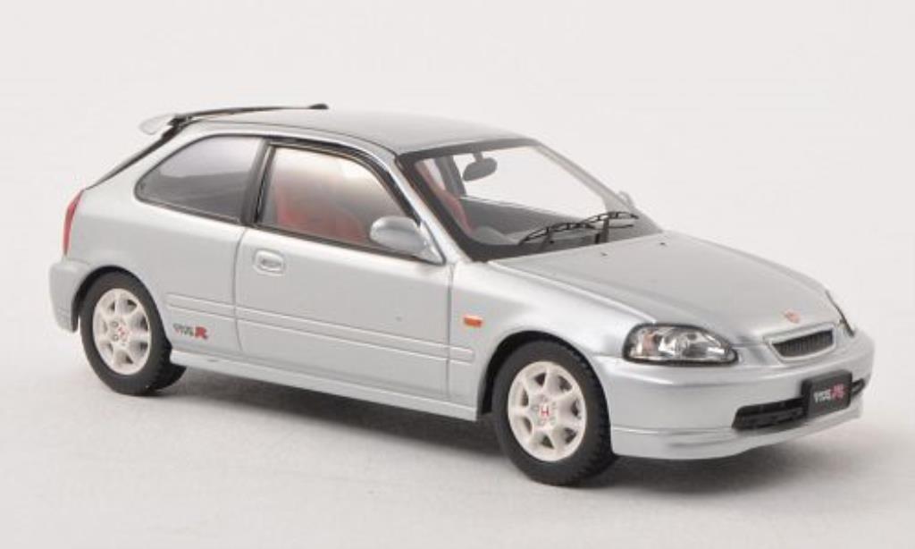 Honda Civic 1/43 Ebbro Type R (EK9) grise RHD fruhe Ausfuhrung miniature