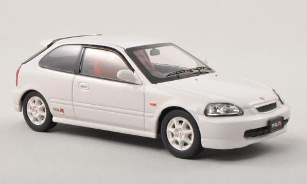 Honda Civic 1/43 Ebbro Type R (EK9) white RHD fruhe Ausfuhrung diecast