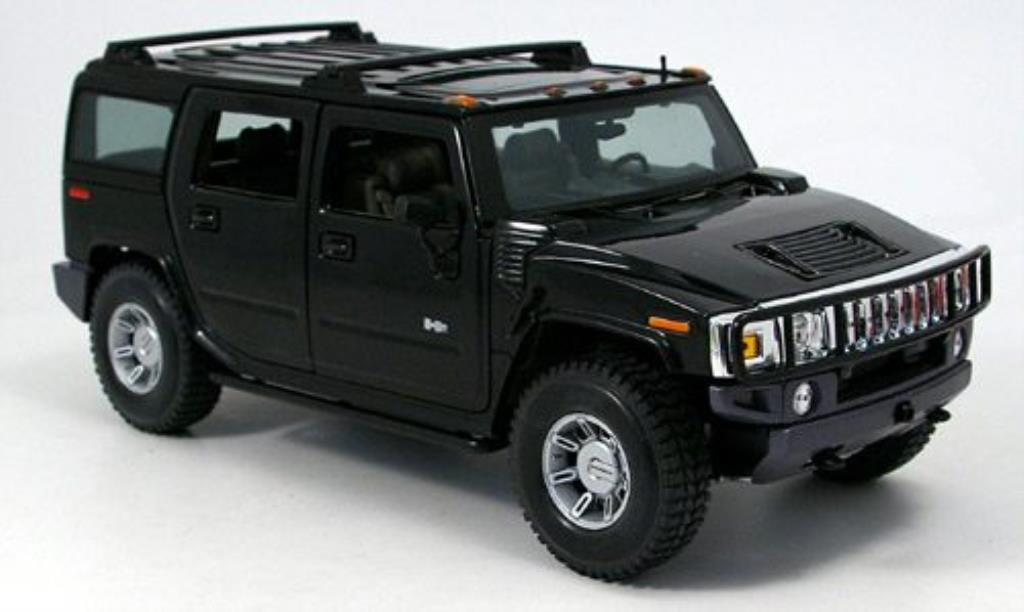 Hummer H2 1/18 Maisto SUV noire 2002 miniature