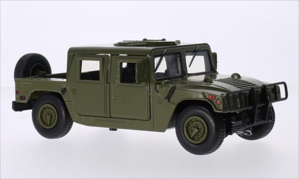 Hummer Humvee 1/24 Motormax matt-oliv / Troop miniature