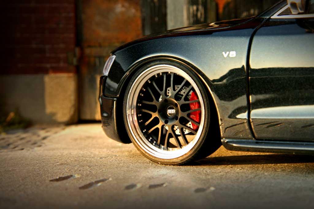 Audi S5 1/18 Norev noire jantes alu 19 pouces diffuseur carbone miniature