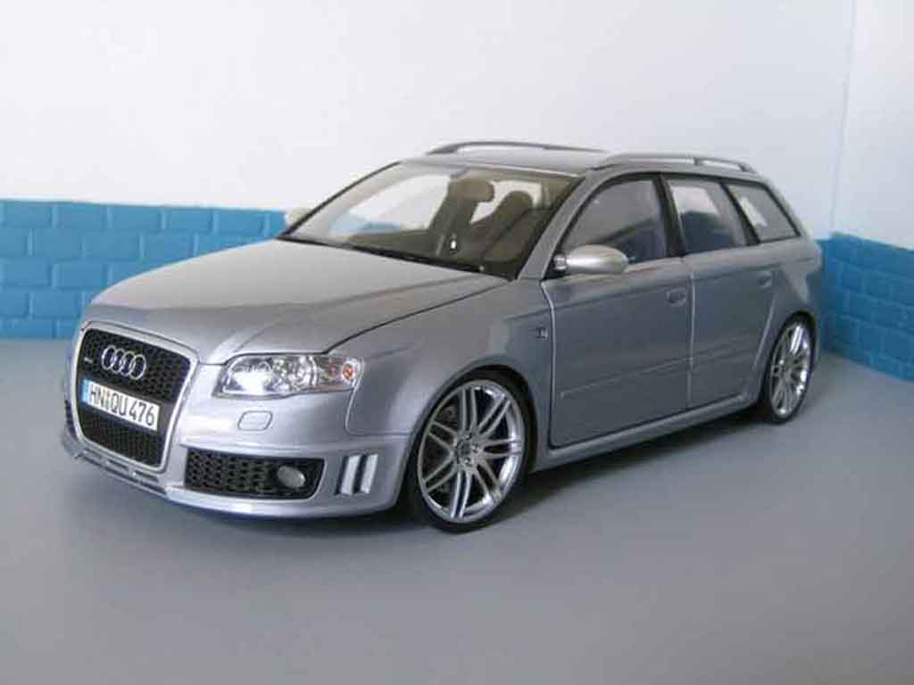 Audi RS4 1/18 Minichamps avant grey diecast model cars
